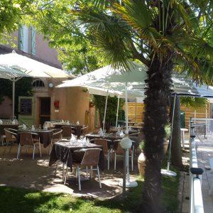 terrasse restaurant palmiers
