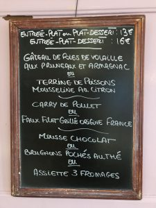 Menu Mardi 9 Octobre