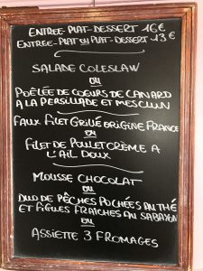 Menu Mercredi 10 Octobre